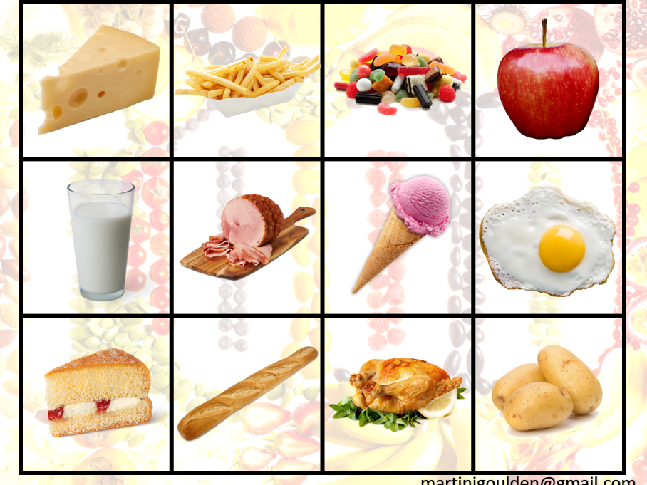 French - I like food - Interactive Whiteboard Game