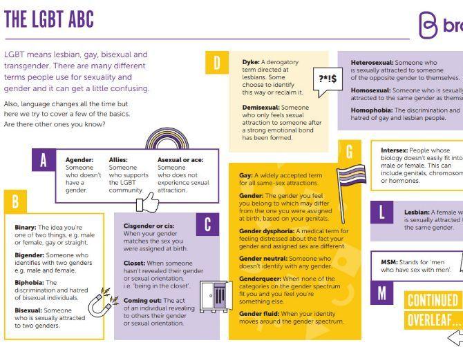 The LGBT ABC handout