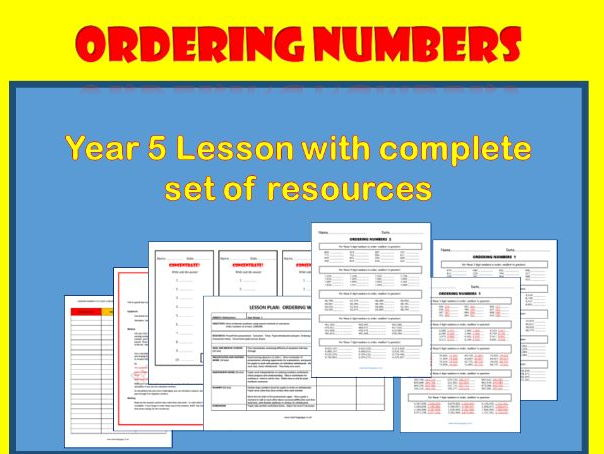 Ordering Numbers up to at Least 1,000,000 (Fully resourced lesson)