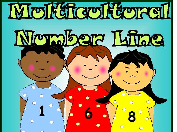EYFS MULTICULTURAL CHILDREN NUMBER LINE CLASSROOM DISPLAY POSTERS KS1 EYFS MATHS