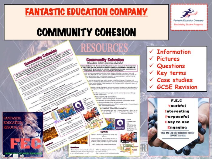 Community Cohesion Teaching Handout Revision Map