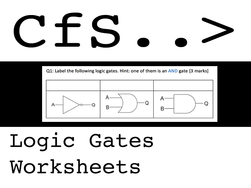 Logic Gates Worksheets