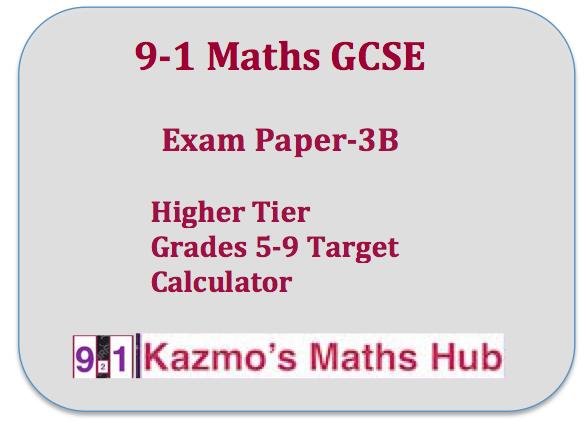 9-1 Maths Exam Paper -3B
