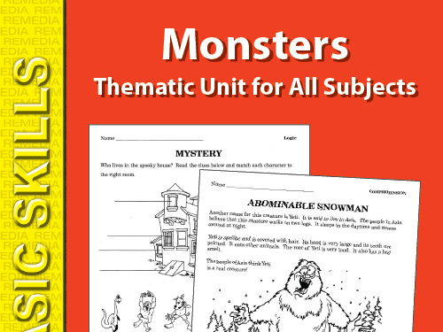 Monsters: Thematic Skill-Builders for All Subjects
