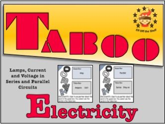 Current Electricity Taboo Cards 2 for KS3