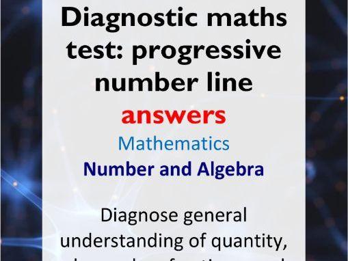 Diagnostic maths test: progressive number line answer key (suits AC Years 2-10)