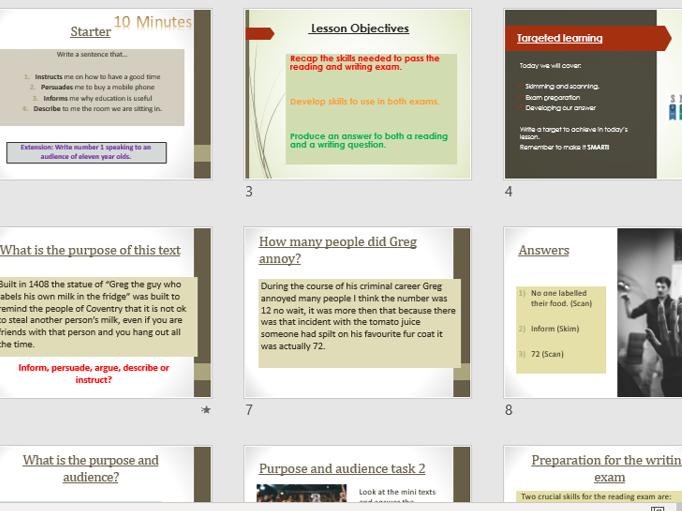 Functional skills - Exam paper practice