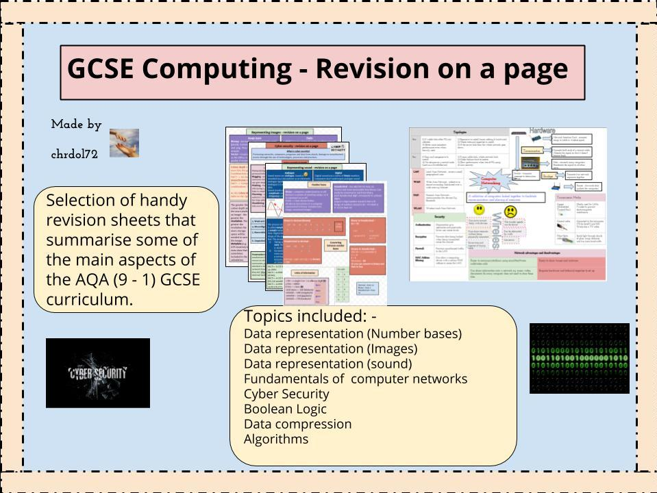 GCSE Computing Theory: Revision booklet (8 topics)