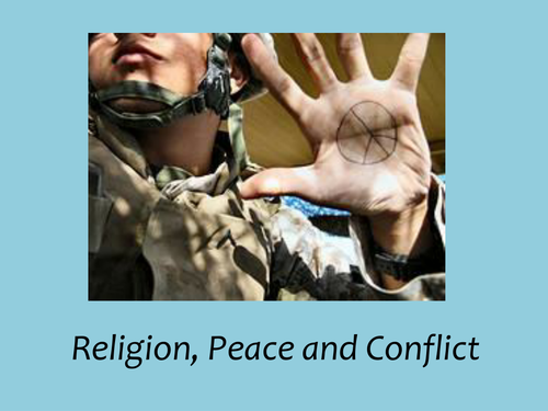 Key Terms for 'Theme B: religion, peace and conflict.' Key Term - definition - picture.