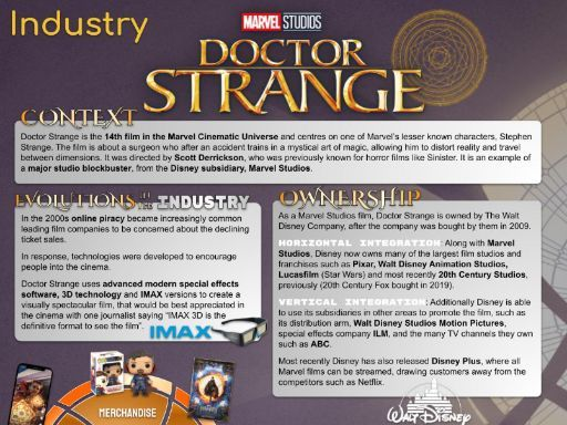 Doctor Strange CSP - INFOGRAPHIC POSTER and REVISION SHEET - AQA Media Studies