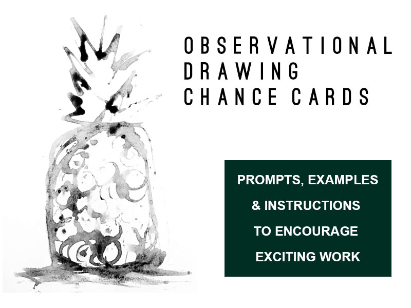 Set of 12 Observational Drawing Chance Cards / Prompts