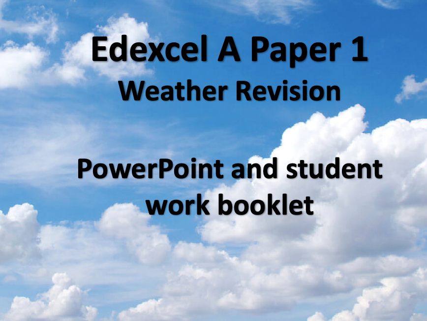 Edexcel A Weather Revision