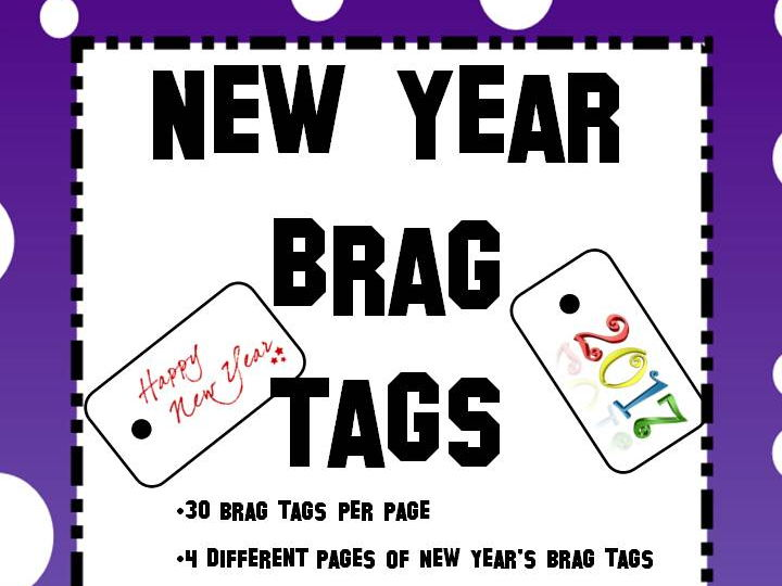 New Year's Holiday Brag Tags