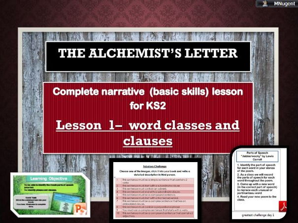 Complete sentence skills lesson   - Word classes and simple sentences