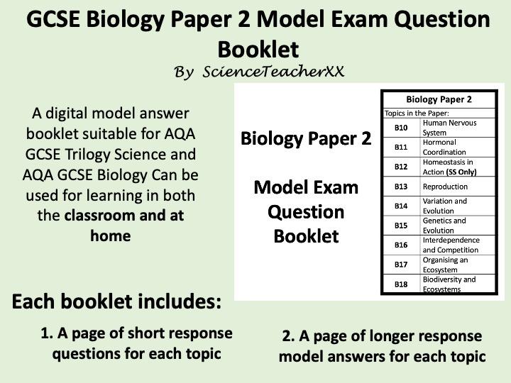 AQA GCSE Biology Paper 2 Revision Booklet