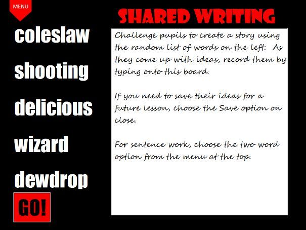 Creative Writing Resource: Shared Writing Lesson