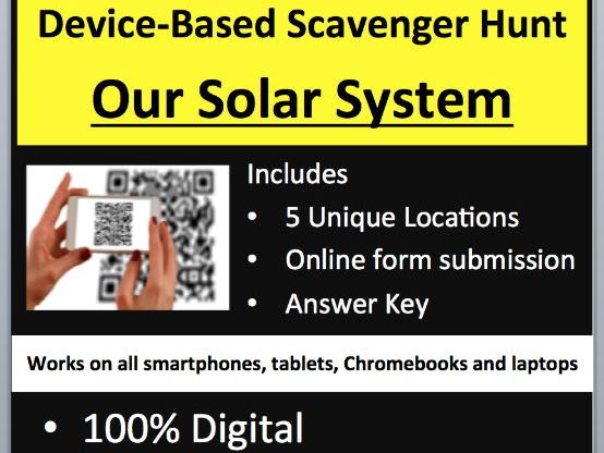 Our Solar System - Device-Based Scavenger Hunt Activity - Let the Hunt ...