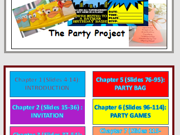 The Party Project (178 slides)-  Outstanding Design and Technology resource