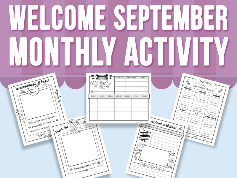 Welcome September - Monthly Activity