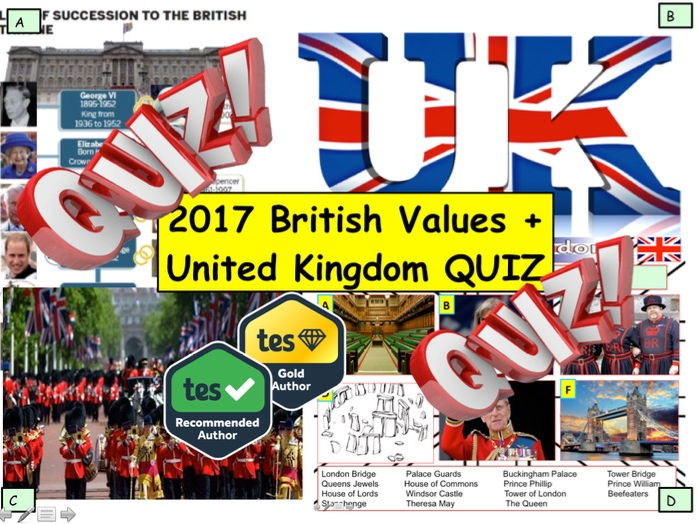 New Year British Values and UK United Kingdom Quiz - 7 rounds and over 40 Questions.