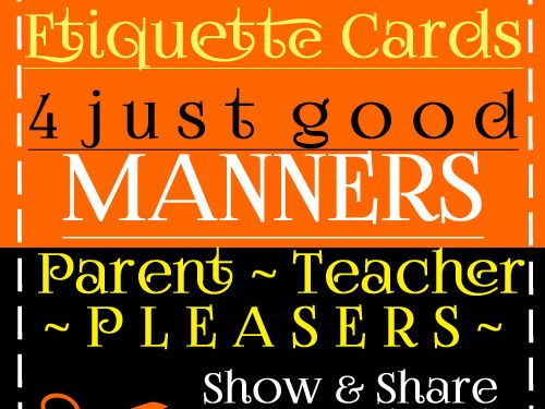 Communication Skills: Etiquette Cards 4 Good Manners > Copy, Cut Out Behavior Task Cards