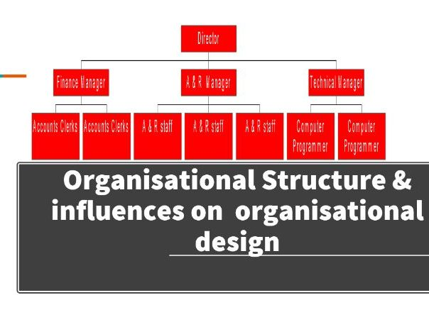 Organisational Structure and influences on organisational design