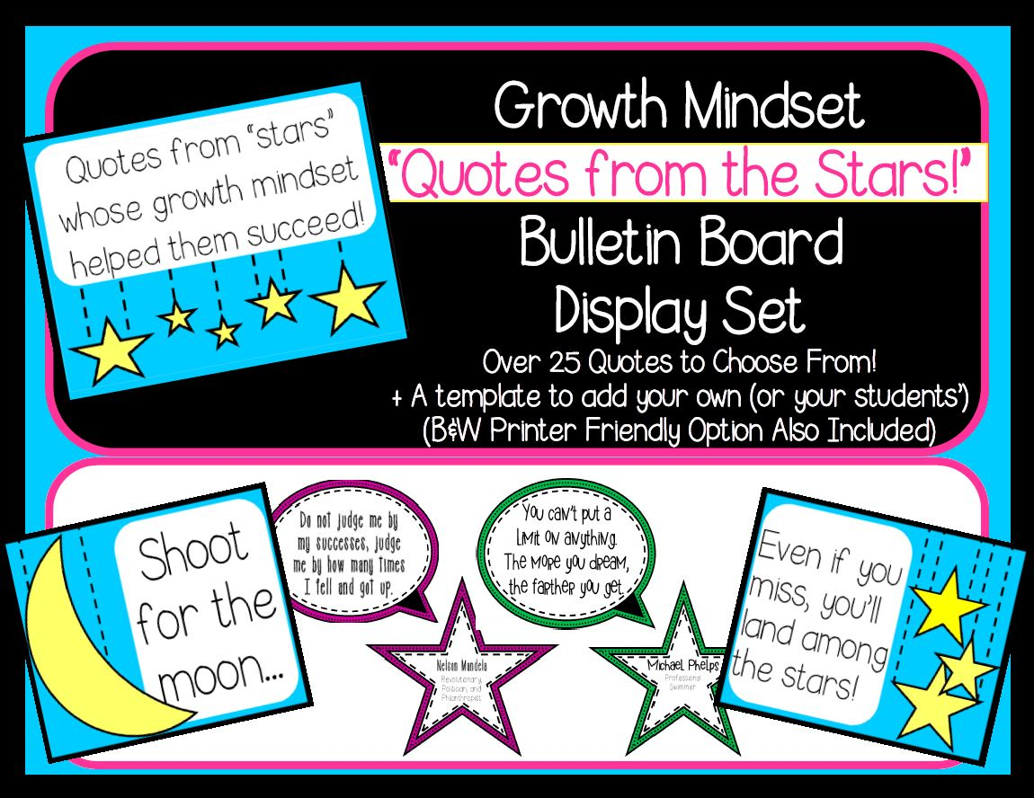Growth Mindset Quotes | Growth Mindset Quotes From The Stars Decor By Widenmo6684 Teaching