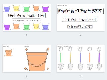 Buckets of Fun in 2021 Classroom Display Board Template