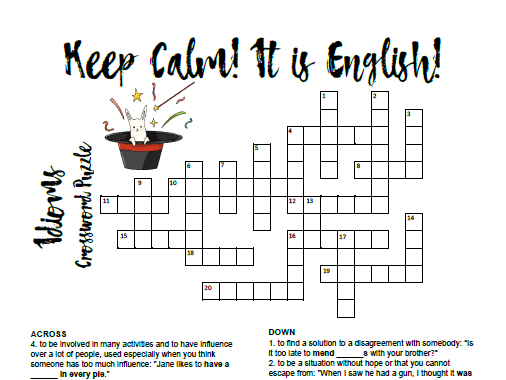 Idioms Crossword Puzzle-1