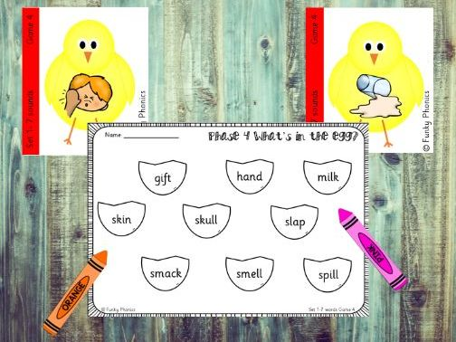 Phonics Phase 4 Easter/Spring - What's in the egg?