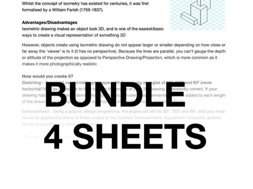 GCSE Design Technology (*BUNDLE) isometric, orthographic, perspective, exploded