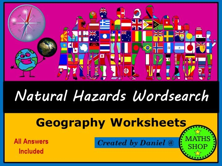 Geography Natural Hazards Wordsearch