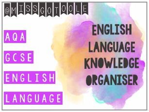 English Language Knowledge Organiser (AQA)
