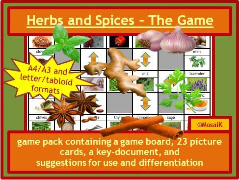 Herbs and Spices  game