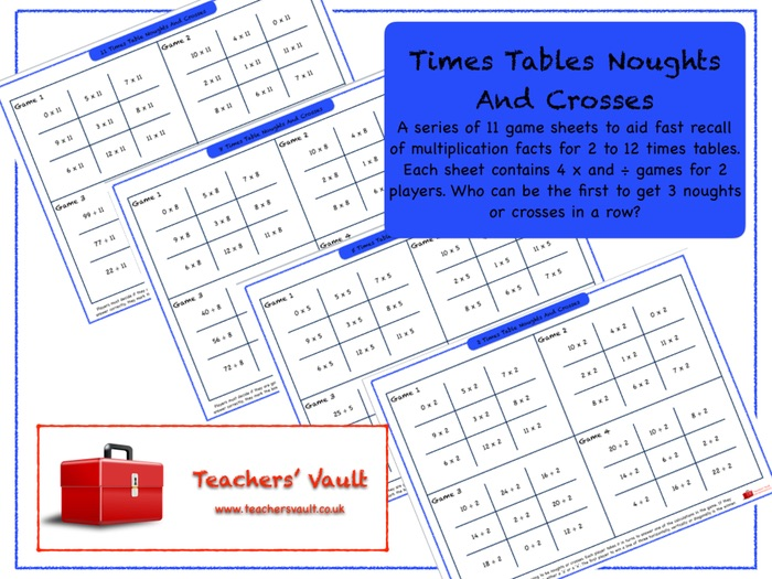 Times Tables Noughts And Crosses