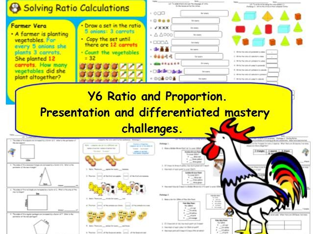 Ratio, Scaling and Proportion Y6 Presentation & Differentiated Challenges.