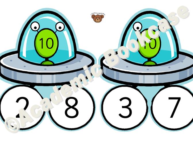 Number bonds to 10 - Alien Spaceship