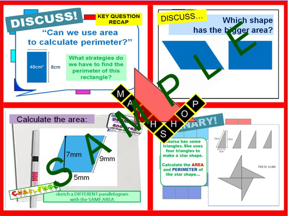 Area - Area of Parallelogram and Triangle (2 Lessons)