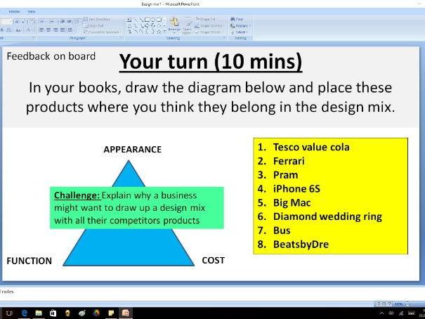 Design mix - GCSE Business