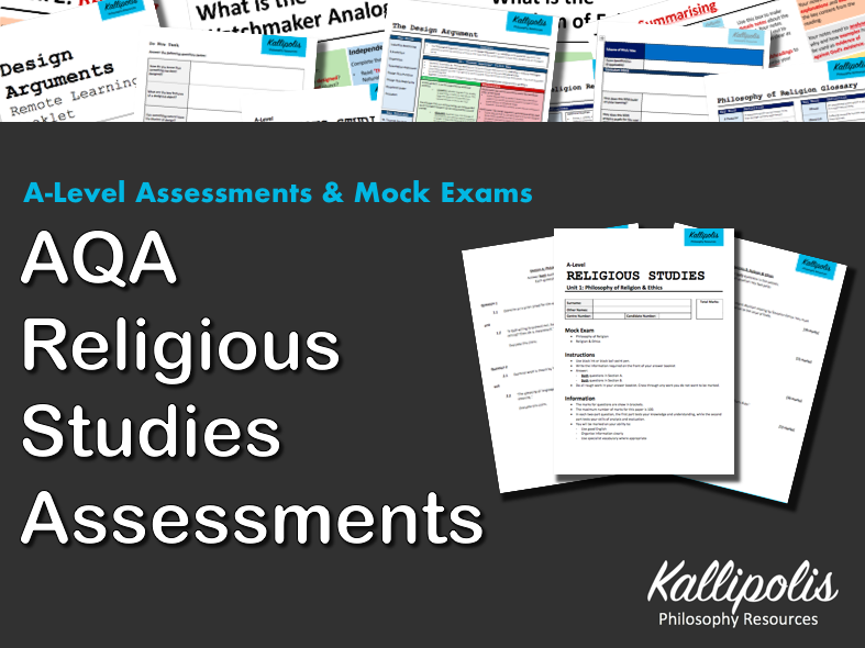 AQA KS5 Unit 1 Philosophy of Religion: End-of-Topic Assessments