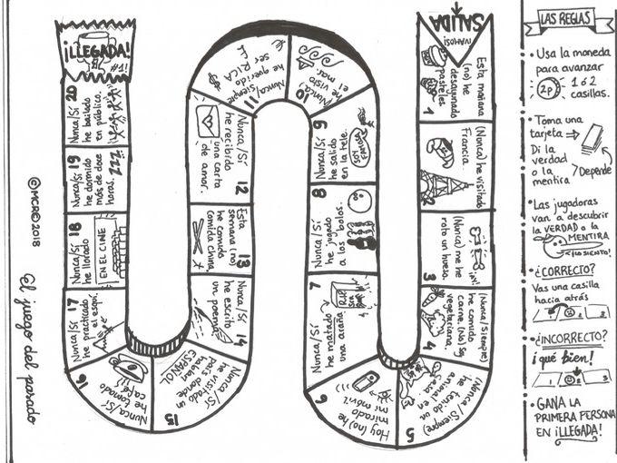 GCSE Spanish 9-1 Grammar Board Game - Present Perfect - El juego del pasado
