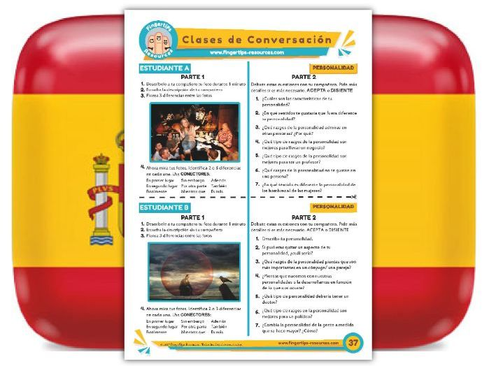 Personalidad - Spanish Speaking Activity