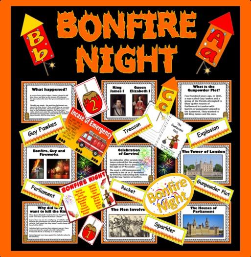 BONFIRE NIGHT, GUY FAWKES resources Gunpowder plot ...