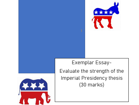 Exemplar US politics essay A-Level