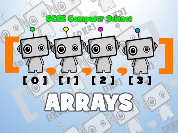 GCSE 9-1 Computer Science: Algorithm Design - Arrays