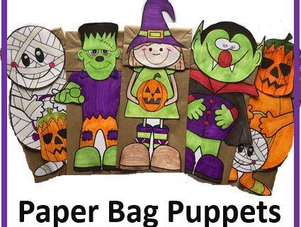 Halloween Craft - Halloween Paper Bag Puppets #2