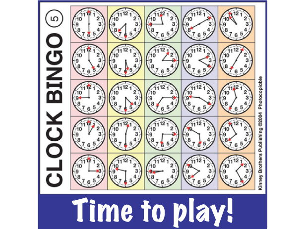 ESL Games - Clock Bingo