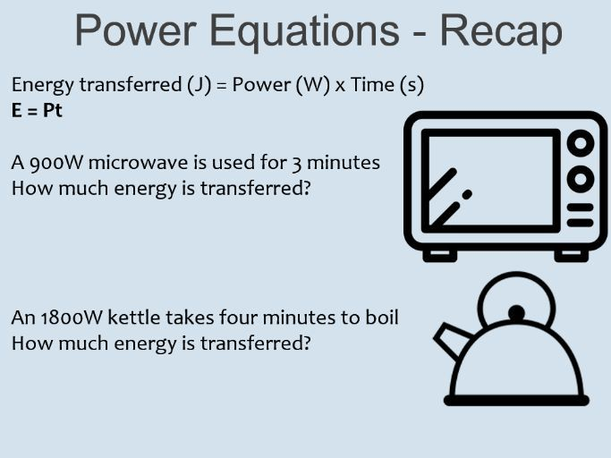 KS4 - Y10 - Physics - Power and Electrical Appliances