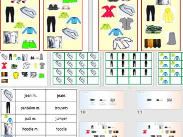 Clothes - Game and PowerPoint to teach basic items of clothing in French