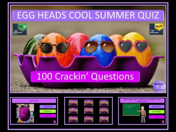 The Eggheads Cool Summer End of Year Quiz - One Hundred Crackin' Questions!